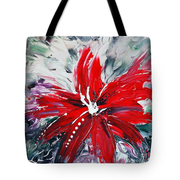 RED BEAUTY Tote Bag by TERESA WEGRZYN