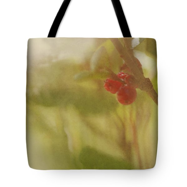 Red Berries Of The Bog Cranberry Tote Bag by Roberta Murray