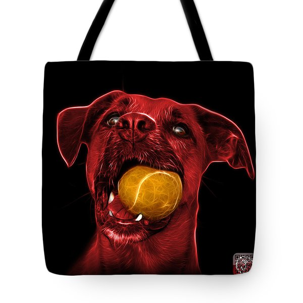 Red Boxer Mix Dog Art - 8173 - Bb Tote Bag by James Ahn