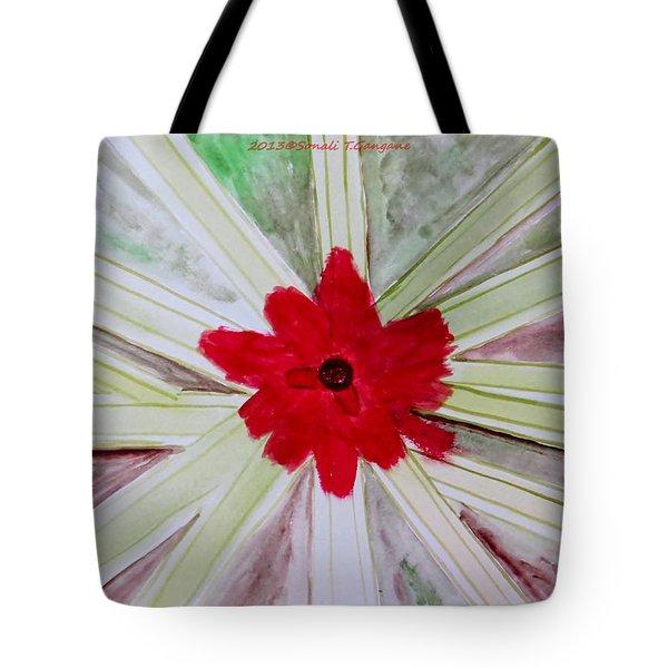 Red Brilliance Tote Bag by Sonali Gangane