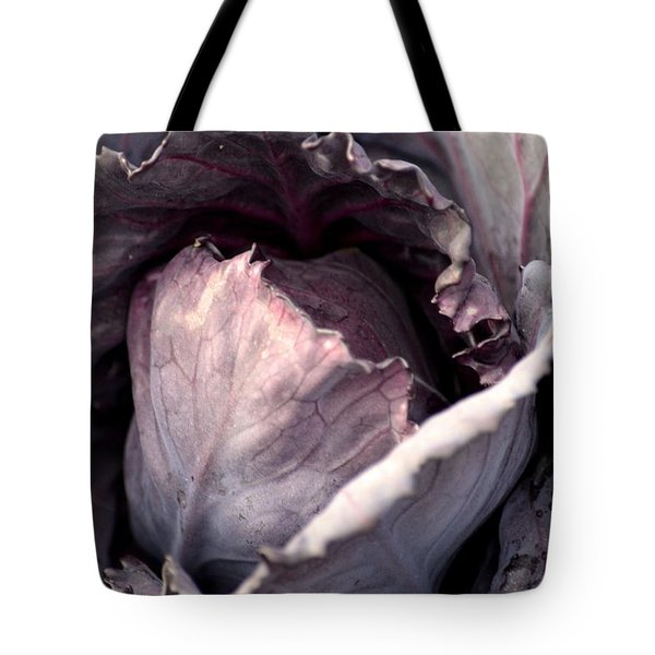 Red Cabbage Tote Bag by Maria Urso