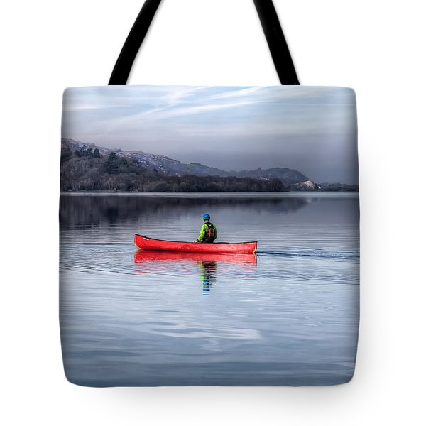 Red Canoe Tote Bag by Adrian Evans