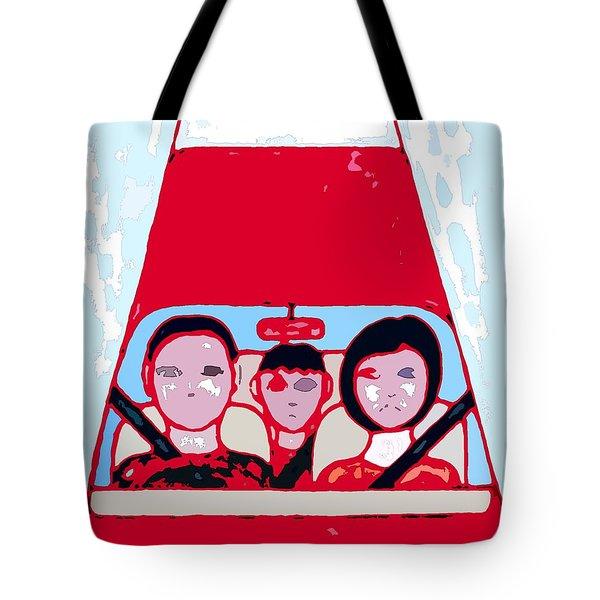 Red Car Tote Bag by Patrick J Murphy