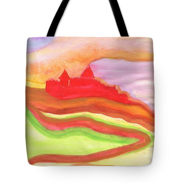 Red Castle Tote Bag by First Star Art