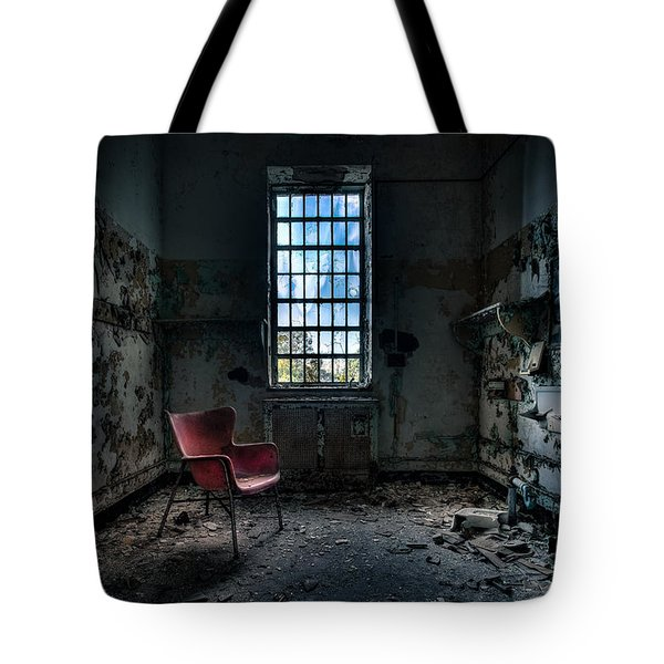 Red Chair - Art Deco Decay - Gary Heller Tote Bag by Gary Heller