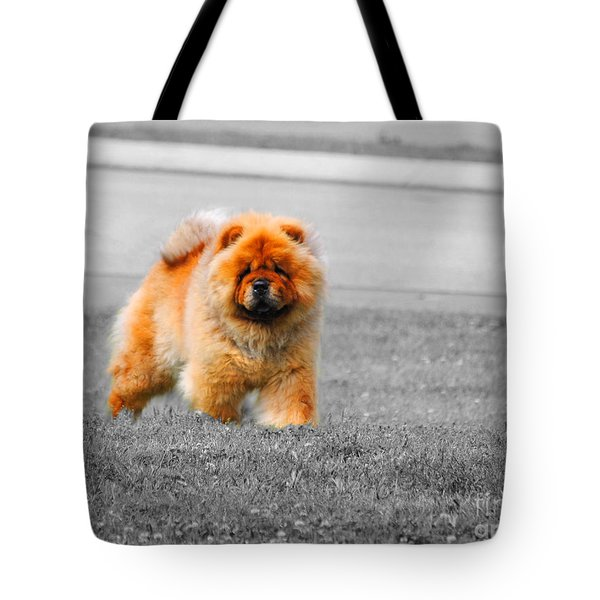 Red Chow Tote Bag by Jai Johnson