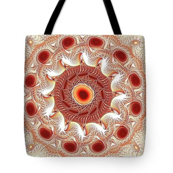 Red Circle Tote Bag by Anastasiya Malakhova