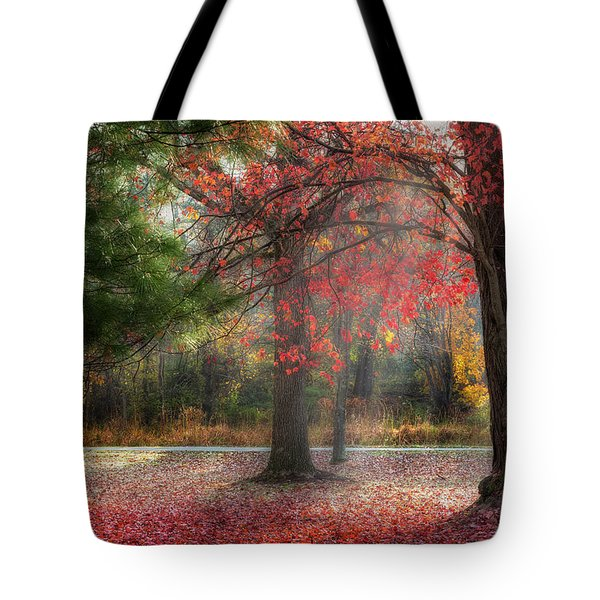 Red Dawn Tote Bag by Bill  Wakeley