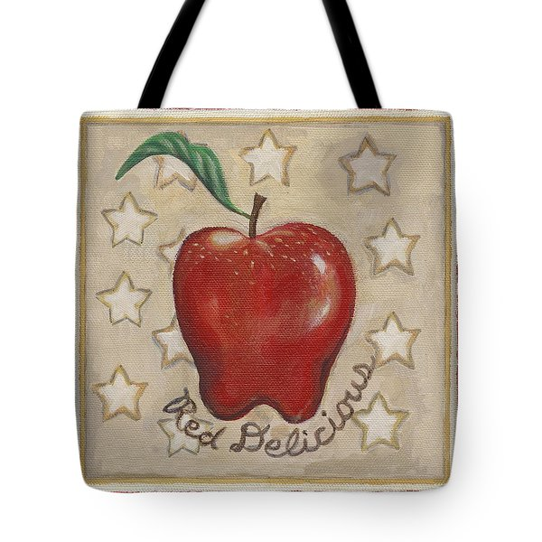 Red Delicious Two Tote Bag by Linda Mears