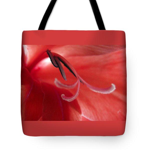 Red Dream - Gladiolus Tote Bag by Ben and Raisa Gertsberg