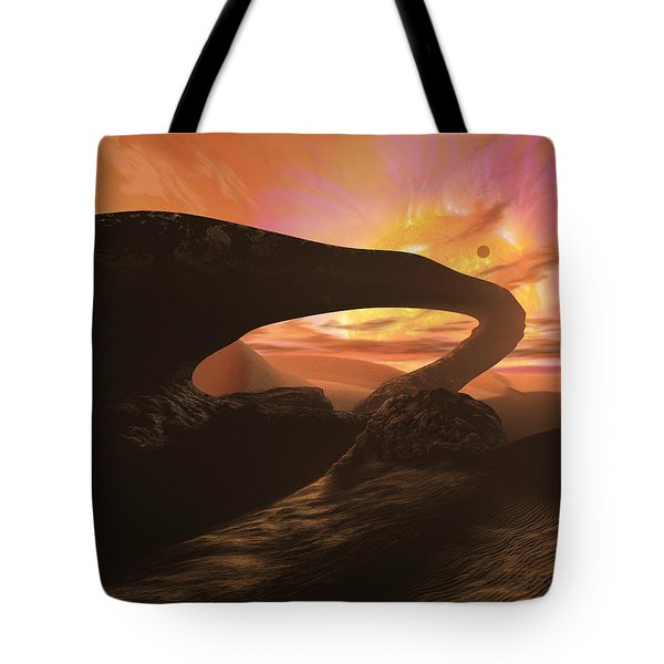 Red Dwarf Sun Tote Bag by Don Dixon
