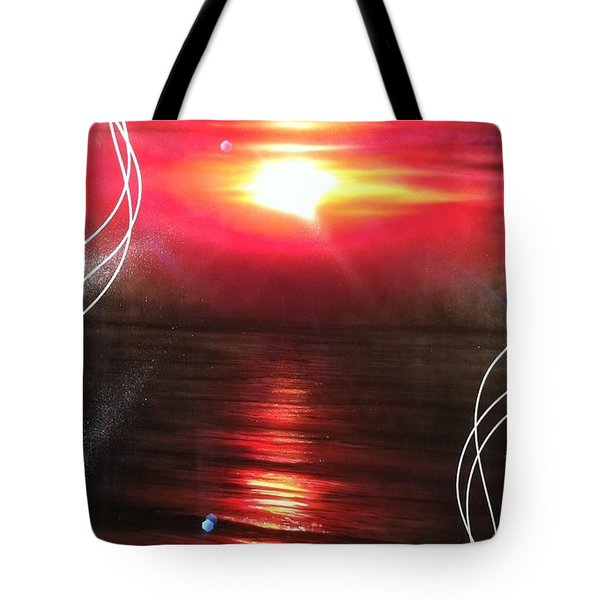 'red Earth' Tote Bag by Christian Chapman Art