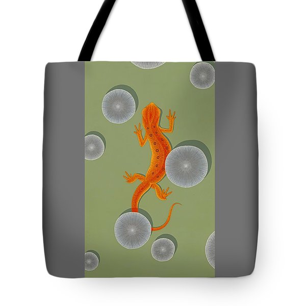 Red Eft Newt Tote Bag by Nathan Marcy