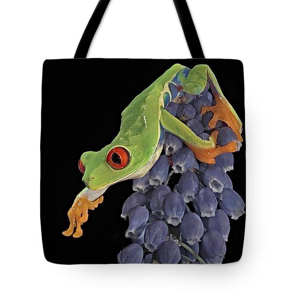 Red Eye  Tote Bag by Susan Candelario