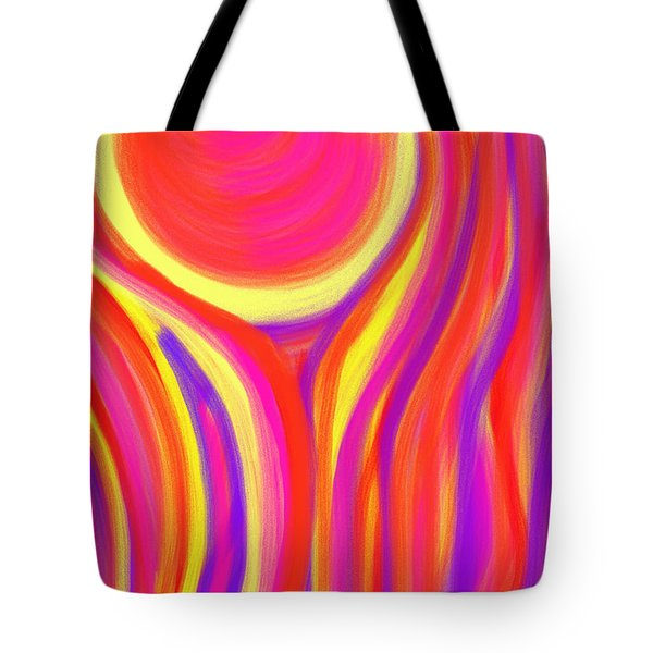 Red Fire Tote Bag by Daina White
