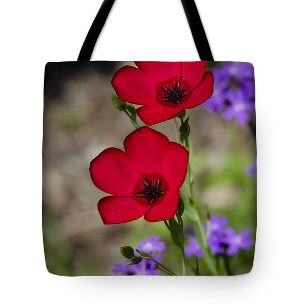 Red Flax  Tote Bag by Saija  Lehtonen