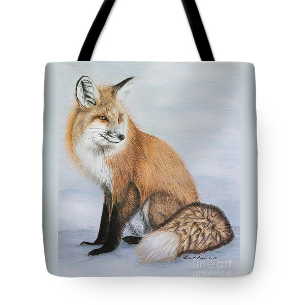 Red Fox Tote Bag by Lena Auxier