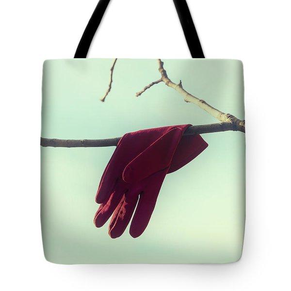 Red Glove Tote Bag by Joana Kruse