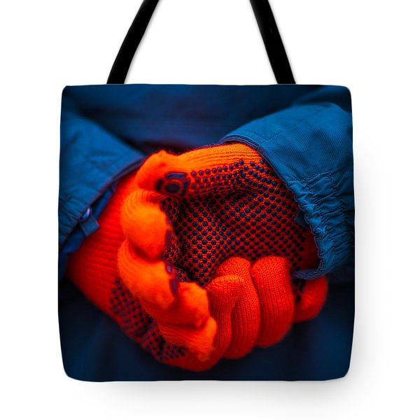 Red Gloves - Featured 3 Tote Bag by Alexander Senin