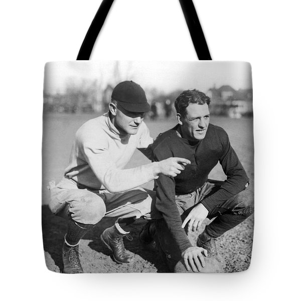 Red Grange And His Coach Tote Bag by Underwood Archives