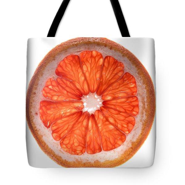 Red Grapefruit Tote Bag by Steve Gadomski
