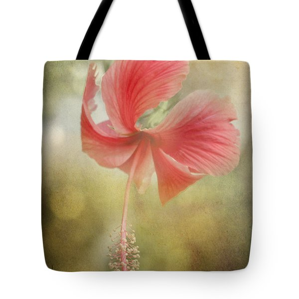 Red Hibiscus Tote Bag by David and Carol Kelly