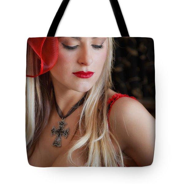 Red Hot Tote Bag by Evelina Kremsdorf