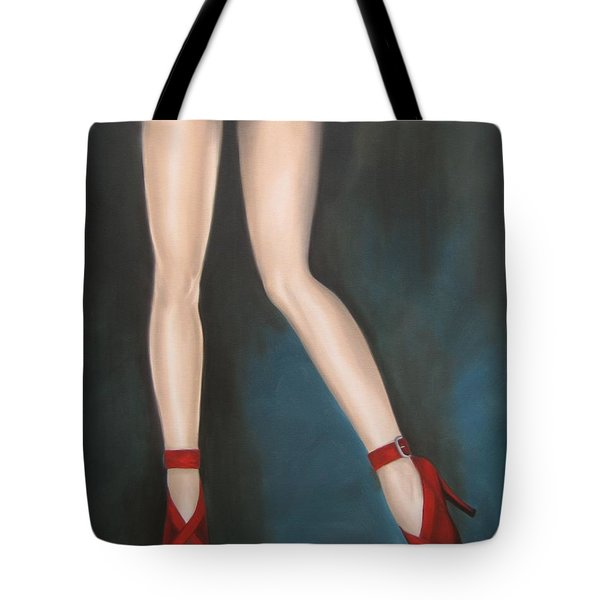 Red Hot Pumps Tote Bag by Jindra Noewi