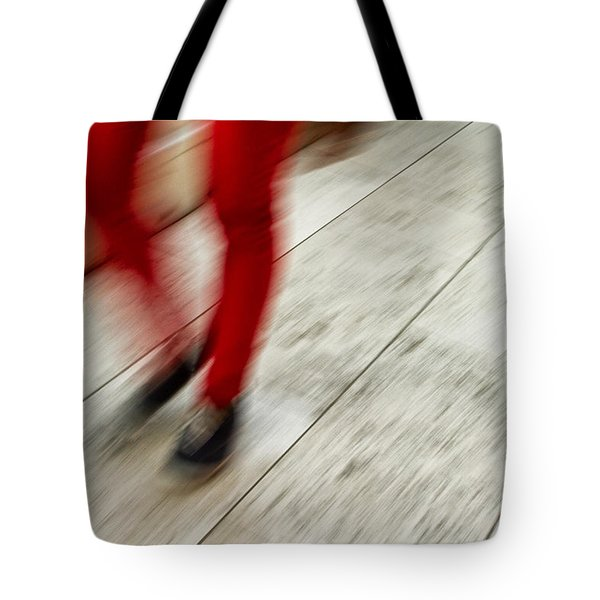 Red Hot Walking Tote Bag by Karol Livote