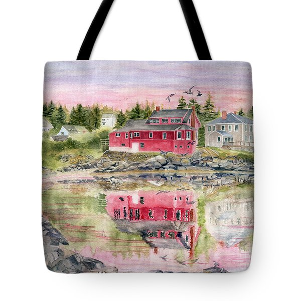 Red House Reflection Tote Bag by Melly Terpening