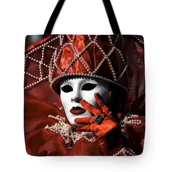 Red Tote Bag by John Rizzuto