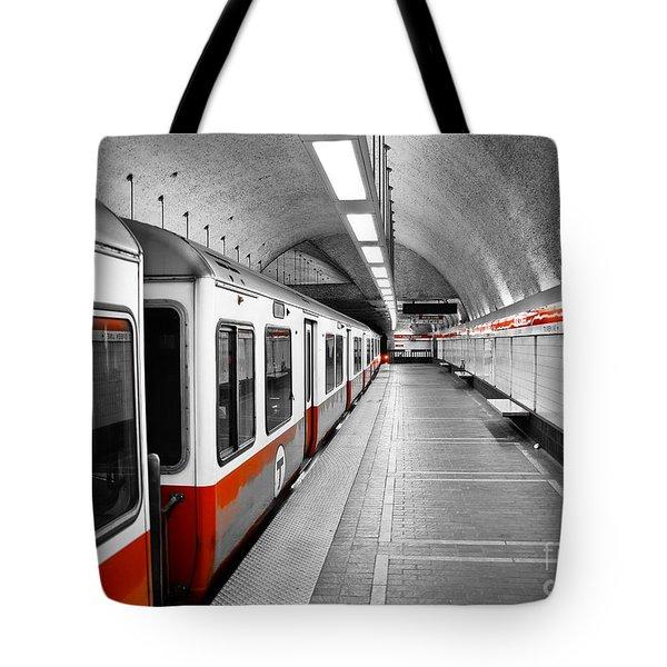Red Line Tote Bag by Charles Dobbs