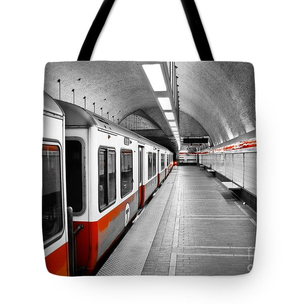 Red Line Tote Bag by Charles Dobbs
