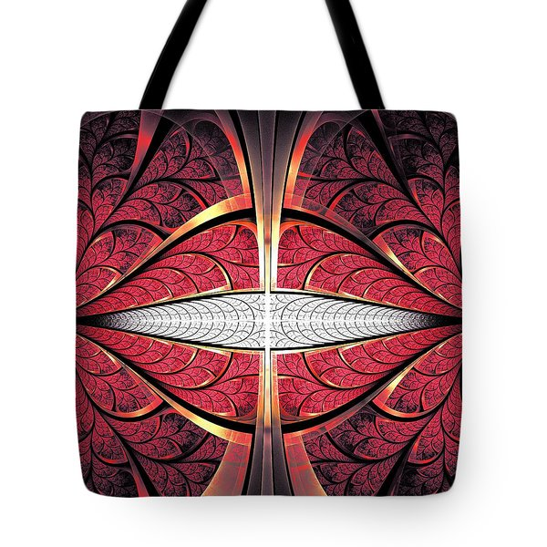 Red Lips Tote Bag by Anastasiya Malakhova