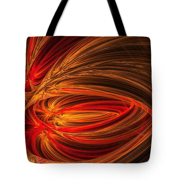 Red Luminescence-fractal Art Tote Bag by Lourry Legarde