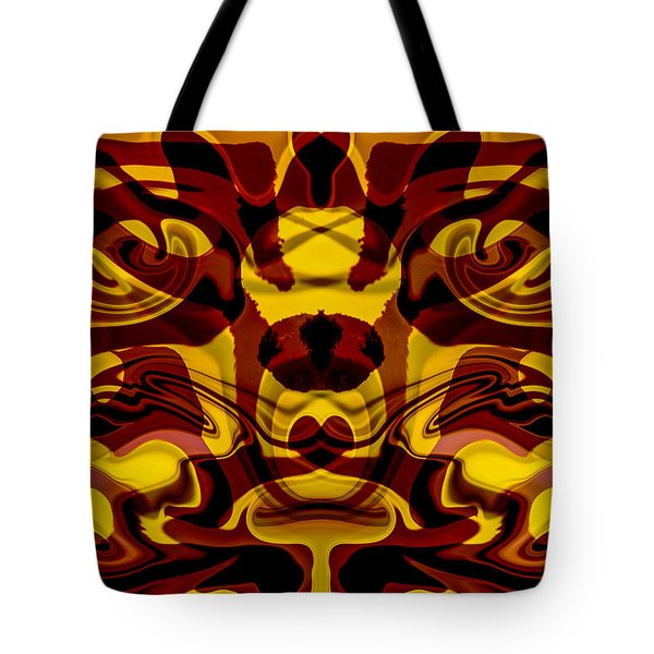 Red Mask Tote Bag by Omaste Witkowski