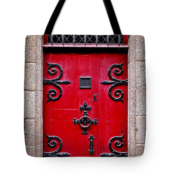 Red medieval door Tote Bag by Elena Elisseeva