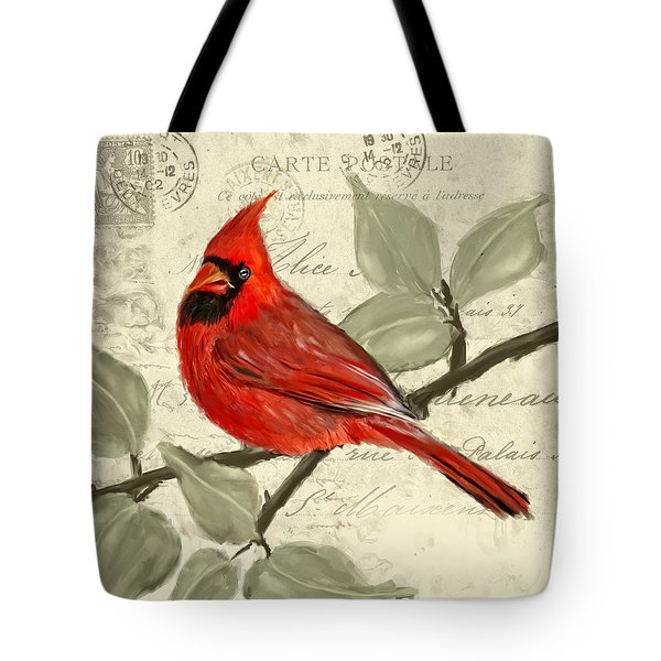 Red Melody Tote Bag by Lourry Legarde