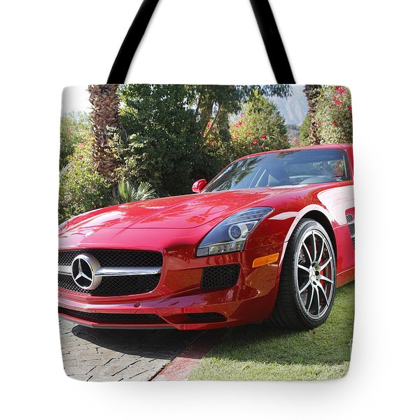 Red Mercedes Benz Tote Bag by Nina Prommer
