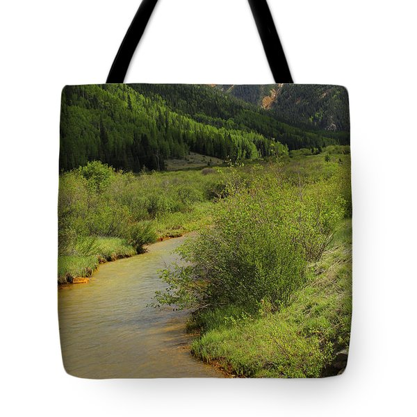 Red Mountain Creek - Colorado  Tote Bag by Mike McGlothlen