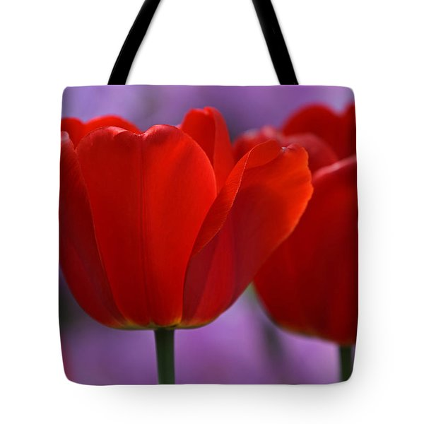 Red On Pink Tote Bag by Juergen Roth