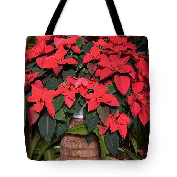 Red Poinsettia Tote Bag by Kathleen Struckle
