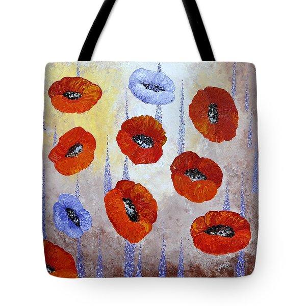 Red Poppies Tote Bag by Georgeta  Blanaru