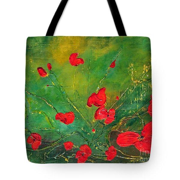 Red Poppies Tote Bag by Teresa Wegrzyn