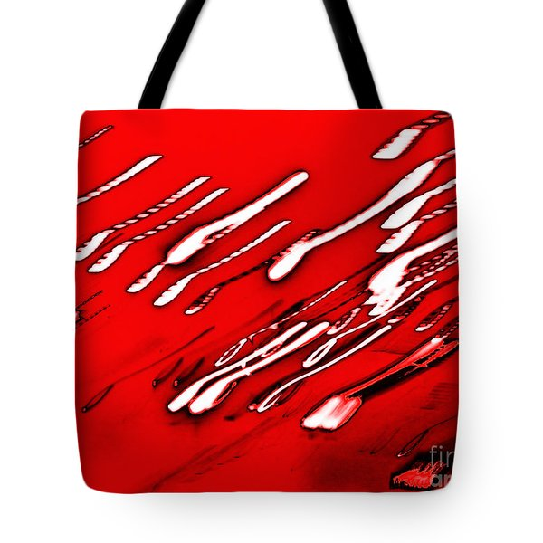 Red Racers Tote Bag by Methune Hively