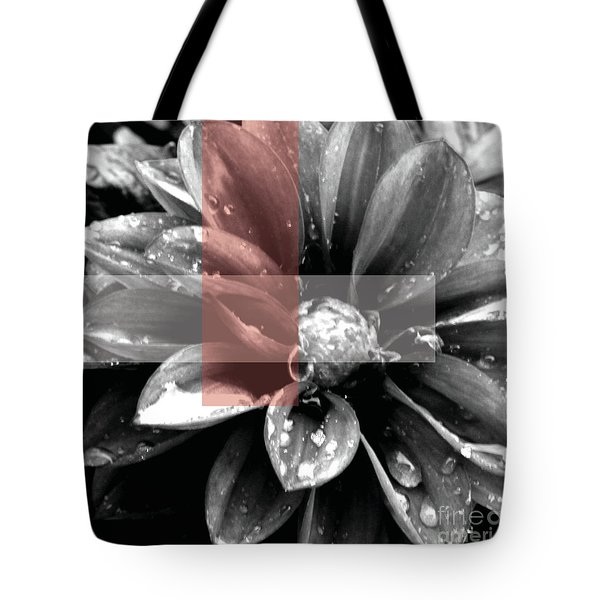 Red Rain Blossom Tote Bag by Jamie Lynn