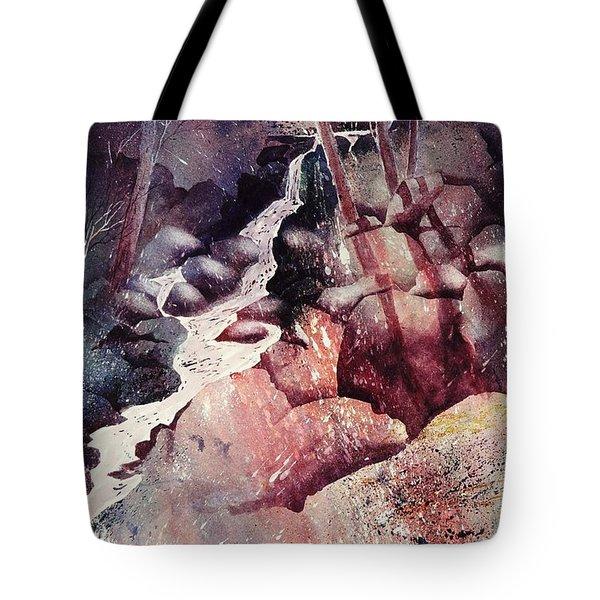 Red Ravine  Tote Bag by John  Svenson