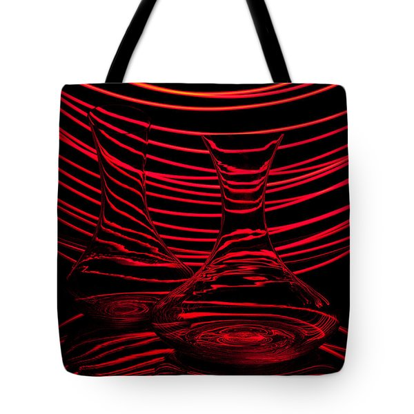 Red Rhythm II Tote Bag by Davorin Mance