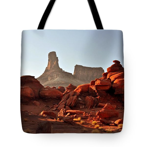 Red Rock and Spire Tote Bag by Marty Koch