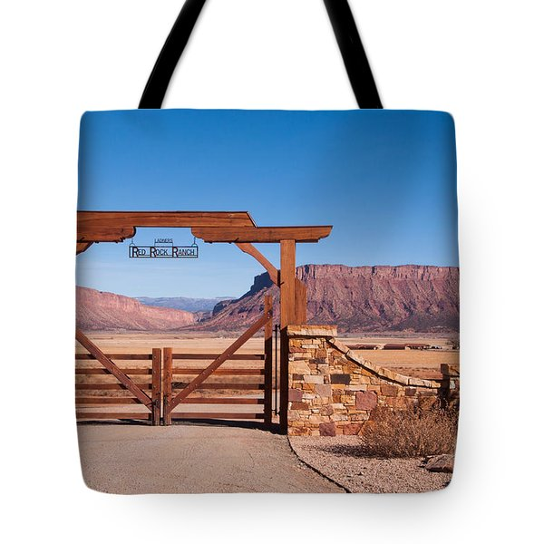 Red Rock Ranch Tote Bag by Bob and Nancy Kendrick